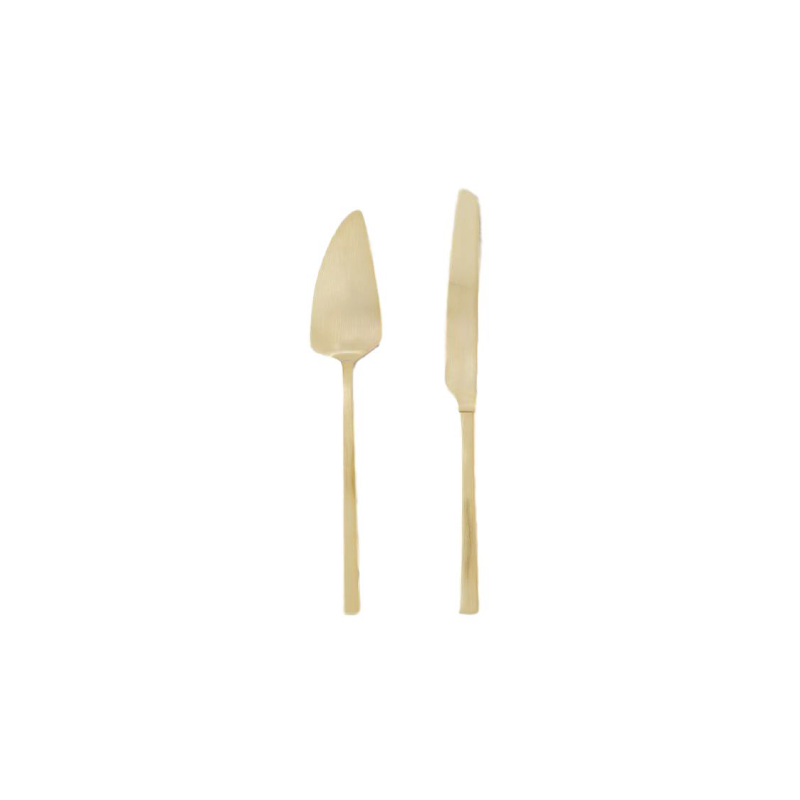 GOLD CAKE CUTTING SET