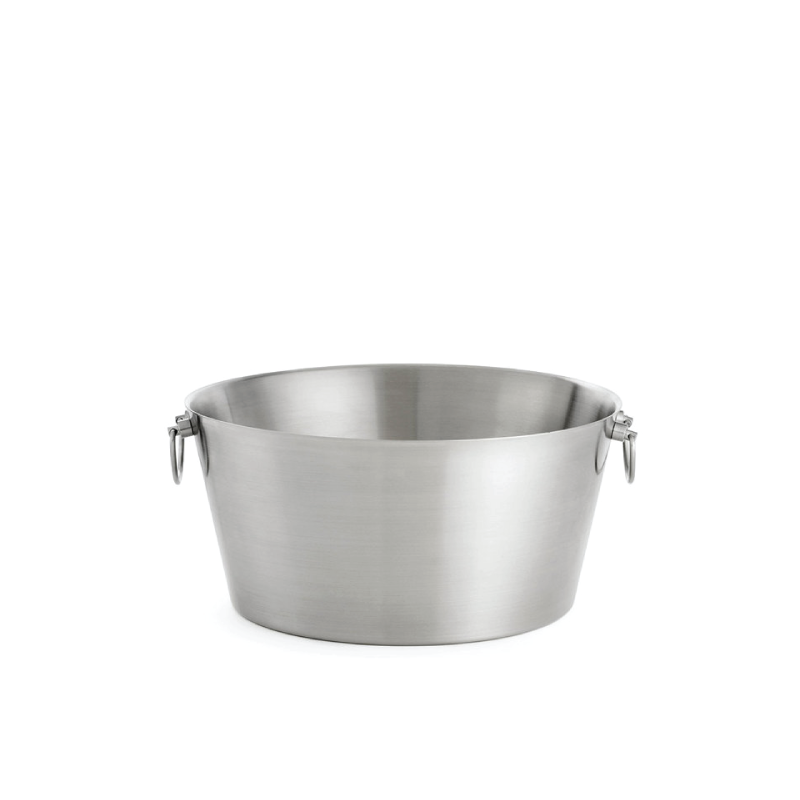"""BRUSHED DOUBLE WALL BEVERAGE TUB   available in: 20"""" diameter x 9"""" h"""