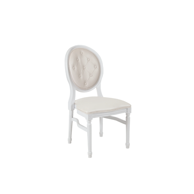 WHITE LOUIS DINING CHAIR
