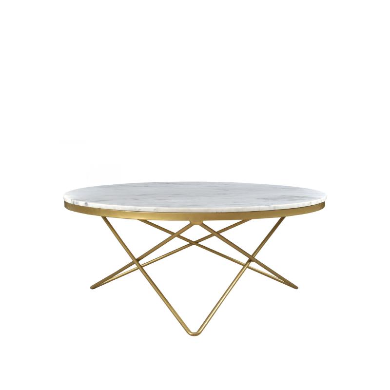 """KEATON COFFEE TABLE   32"""" diameter x 16""""h"""