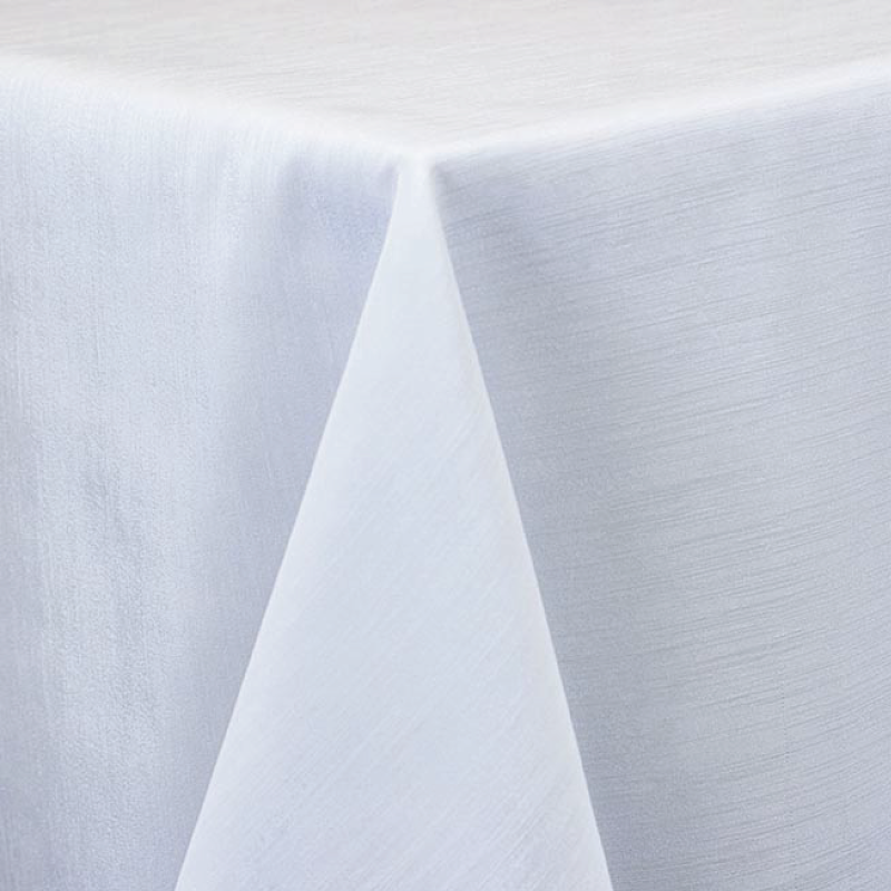 "WHITE MAJESTIC LINEN   available in: 20""x20"" square napkin, 108"" round, 120"" round, 132"" round, 90""x132"" long, 90""x156"" long, 12"" x 108"" long runner"