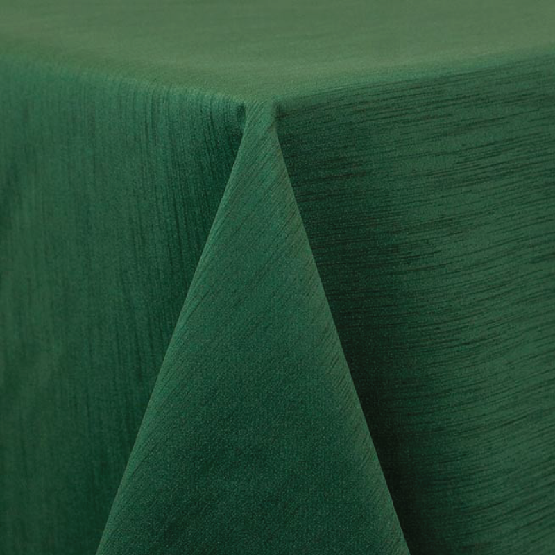 "HUNTER GREEN MAJESTIC LINEN   available in: 20""x20"" square napkin, 108"" round, 120"" round, 132"" round, 90""x132"" long, 90""x156"" long, 12"" x 108"" long runner"
