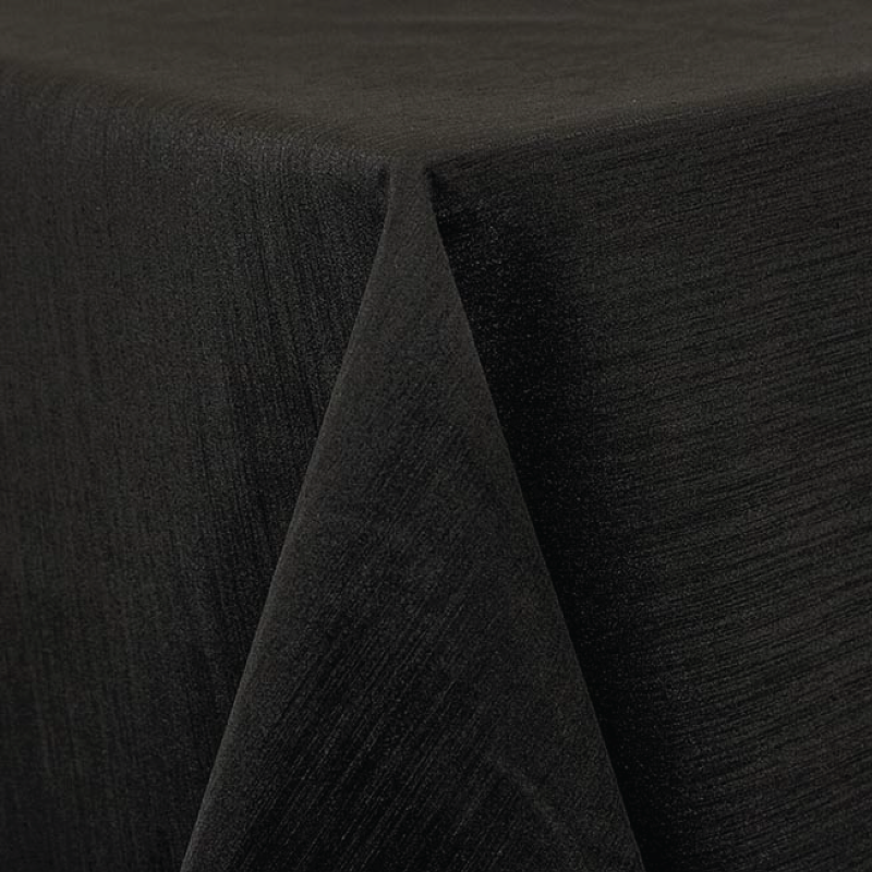"BLACK MAJESTIC LINEN   available in: 20""x20"" square napkin, 108"" round, 120"" round, 132"" round, 90""x132"" long, 90""x156"" long, 90""x90"" square, 12"" x 108"" long runner"