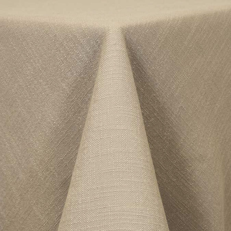 "IVORY PANAMA LINEN   available in: 108"" round, 120"" round, 132"" round, 90""x156"" long, 108""x 156"" long, 12"" x 108"" long runner"