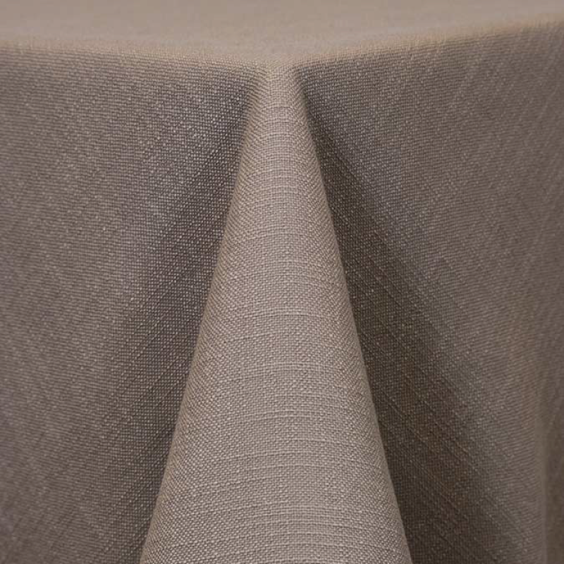 "TAUPE PANAMA LINEN   available in: 108"" round, 120"" round, 132"" round, 90""x156"" long, 108""x 156"" long, 12"" x 108"" long runner"