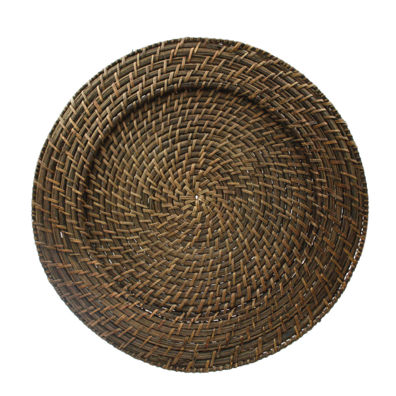"BROWN RATTAN CHARGER   available in: Charger Plate (13"")"