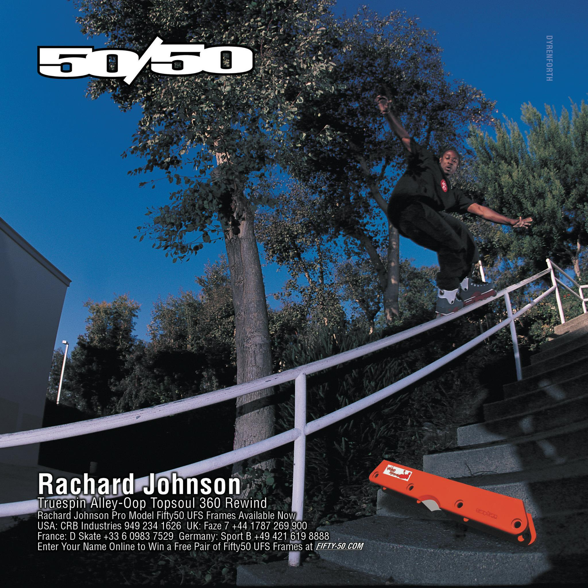 Rachard was one of the few skaters to have two Pro Model frame ads, this one showing in Europe.