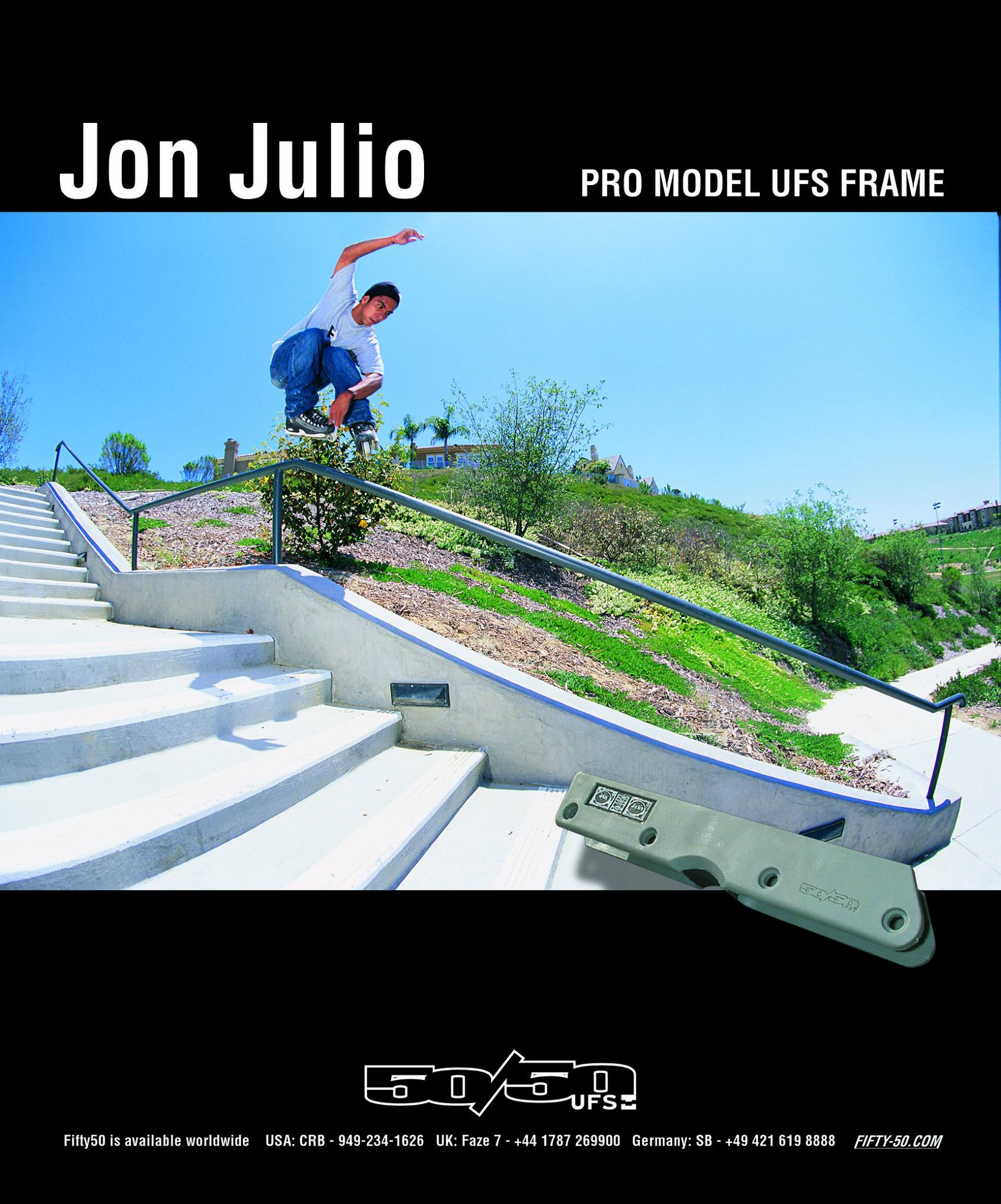This Jon Julio ad hit around Summer of 2012 with his series 2 50/50 UFS Pro Model frame, now in grey and black.