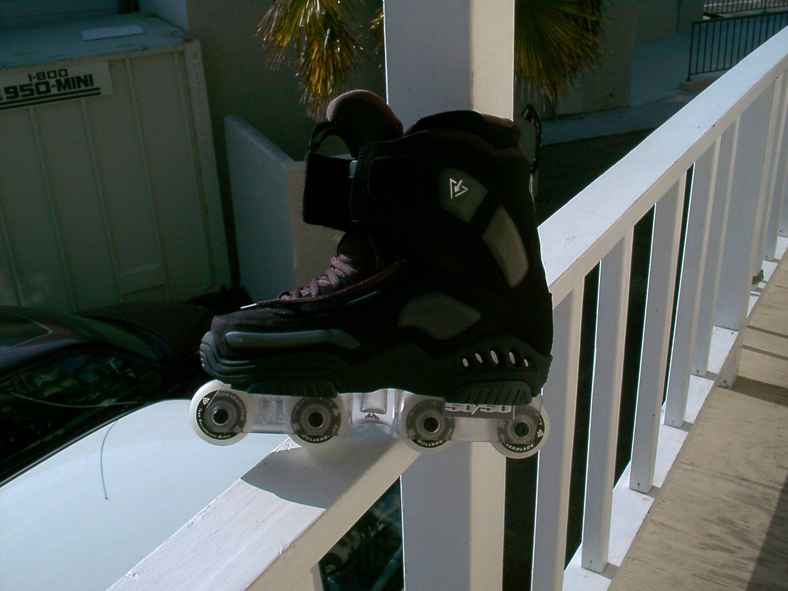 The clear 50/50 UFS frames looked incredible on a pair of the new Rollerblade Access skates.