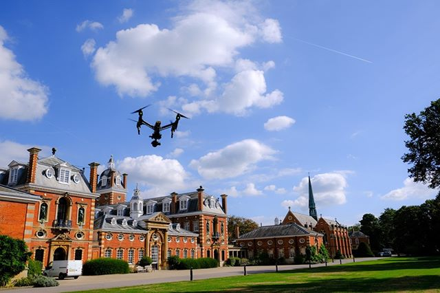 #Throwback to some aerial filming in the sunshine at Wellington College 🚁 📷