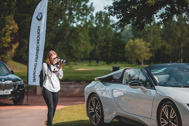 Great morning snapping the Barons BMW Golf Day at Sand Martins Golf Club 📸 If Molly had it her way, we definitely would have gone back to the office with an i8 or two 🚘 #JoshuaDesignGroup #JDG