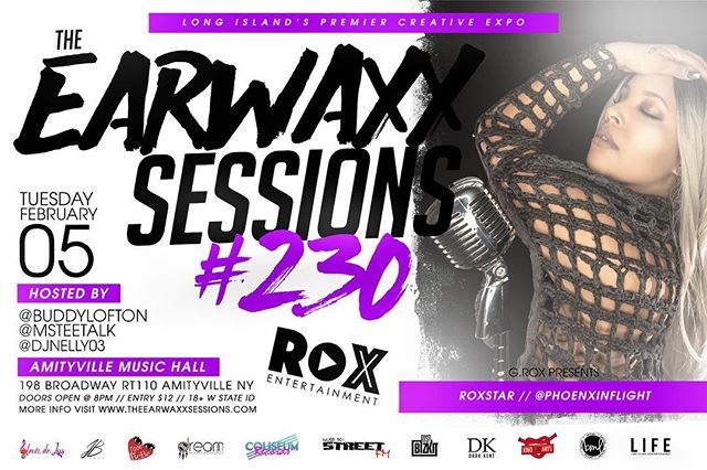 Tuesday February 5th, I will be performing at the infamous @theearwaxxsessions at @amityvillemusichall This is the first time I will be performing my single You & Me live!!! Doors open at 8 Admission is $10 in advance. Grab your tickets here: https://www.eventbrite.com/e/the-earwaxx-sessions-2519-tickets-54430594373?aff=PHOENXINFLIGHT (link also in bio 😘)
