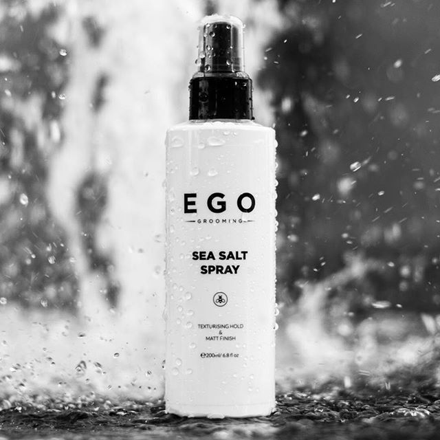 ⚪⚫ Introducing SEA SALT SPRAY. Now Available. One of Your New Everyday Essentials. Premium Male Haircare, brought to you by EGO Grooming.⚪⚫ A styling spray that creates body and texture with a matt finish. Our Sea Salt Spray enhances texture and volume whilst strengthening and protecting hair from damage. Enriched with sea salt, the styling spray can be used on its own or as a pre-styler along with our Matt Clay or Shape Paste.  Visit👇 egogrooming.com | #shapeyours |