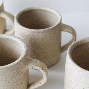 Cream Speckled Ceramic Coffee Mug