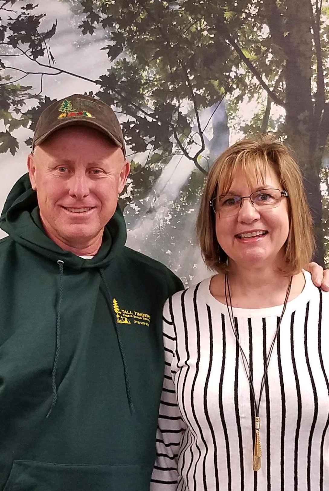 Dave and Debi Carpenter - Owners/OperatorsISA Certified ArboristPesticide License - CO Dept of Ag., QSDave and Debi founded Tall Timbers in June of 2000 with a single pick-up truck and chainsaw. Through hard work and persistence they have grown Tall Timbers into the industry leader in El Paso County. They have great pride in their business and take full responsibility for all successes and failures throughout the organization.Dave has been in the green industry since 1985. He attended the Davey Institute of Tree Science in Kent, Ohio. Dave is an ISA Certified Arborist and carries a QS license with the CO Dept. of Agriculture. Dave has an unrivaled passion for tree care and believes in preserving as many trees as possible to sustain our urban forests.Debi has over 20 years experience working in the green industry. She handles all of the behind the scenes work in the office at Tall Timbers. From HR and accounting to scheduling and payroll, she keeps the organization running smoothly. Debi takes great pride in providing unmatched customer service to every one of our clients.
