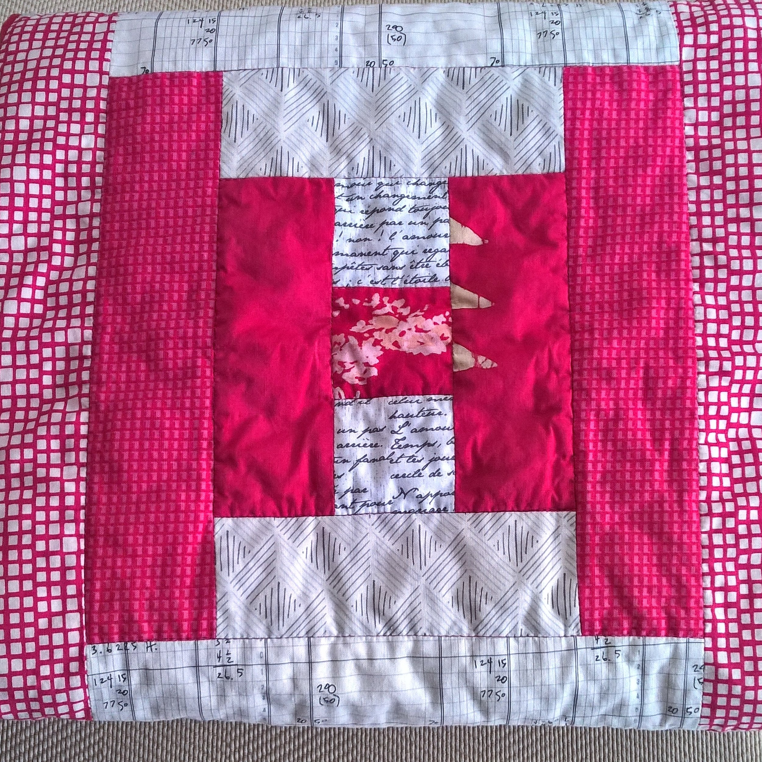 This quilt was a fun and quick finish!