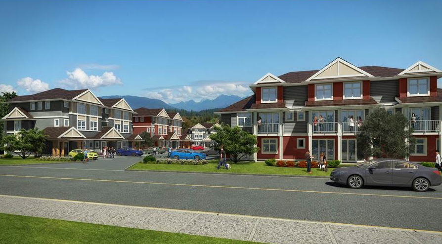 Baxter Landing by Kerkhoff Construction is a 36-unit townhome development in Kitimat, the first multi-family project in the city in decades. Image supplied