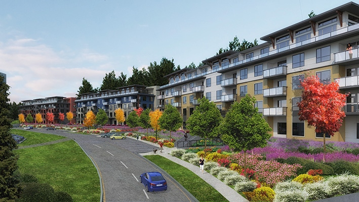 Kerkhoff Construction was selected to build a 49-unit condo building at Haisla Town Centre for the Haisla First Nation. Image supplied