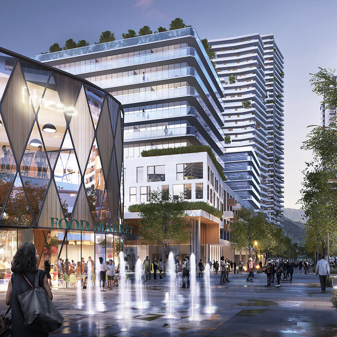 Artistic rendering of the Coquitlam recent redevelopment. (Morguard Investments)