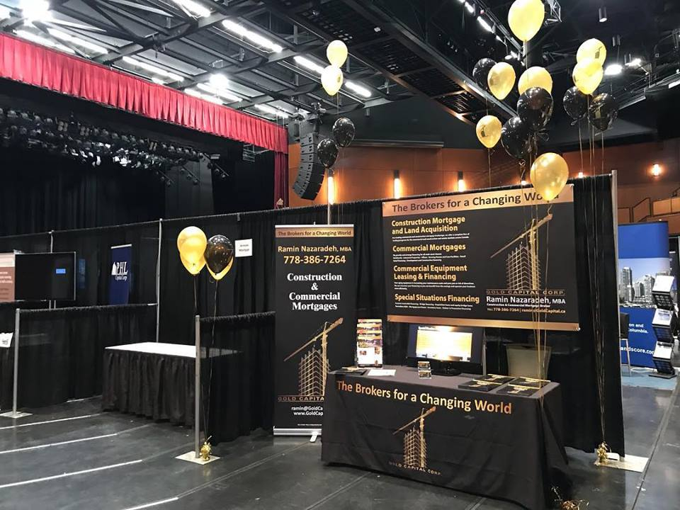 Viist our booth at this year Trade-show and see how we can help you with your commercial and construction mortgage request