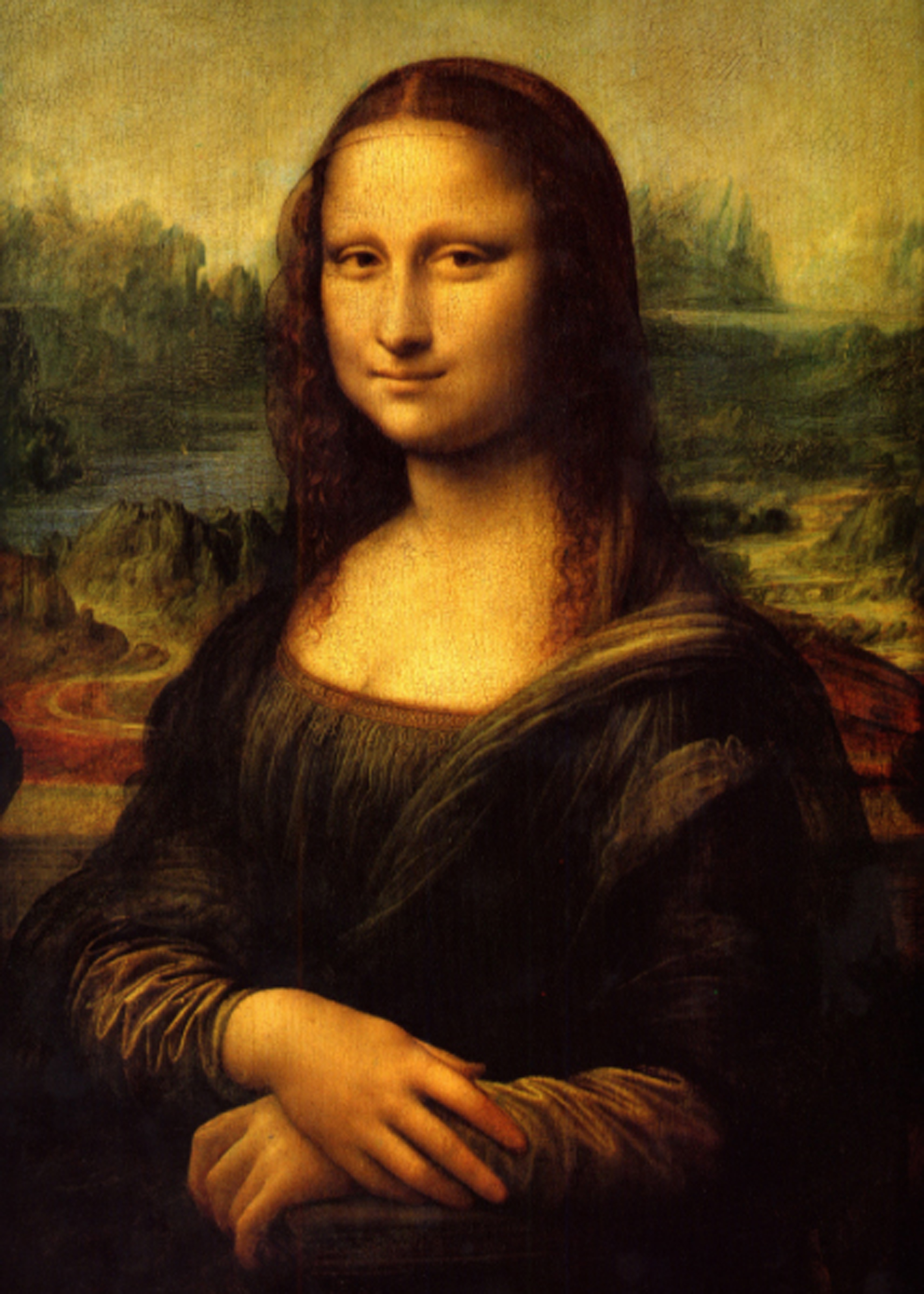 1. Picture of the Mona Lisa - To begin, a screenshot of DaVinci's Mona Lisa was pulled from the web for reference. Colors are adjusted as best as possible and a digital proof is printed as a master reference.