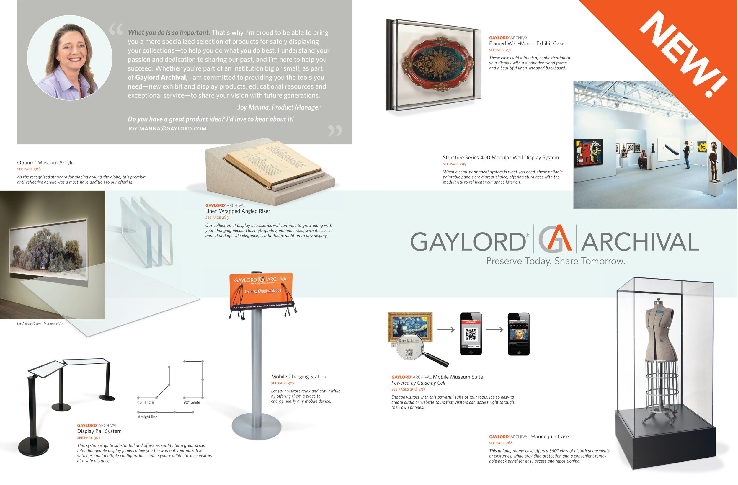 Exhibit & Display, new product spread