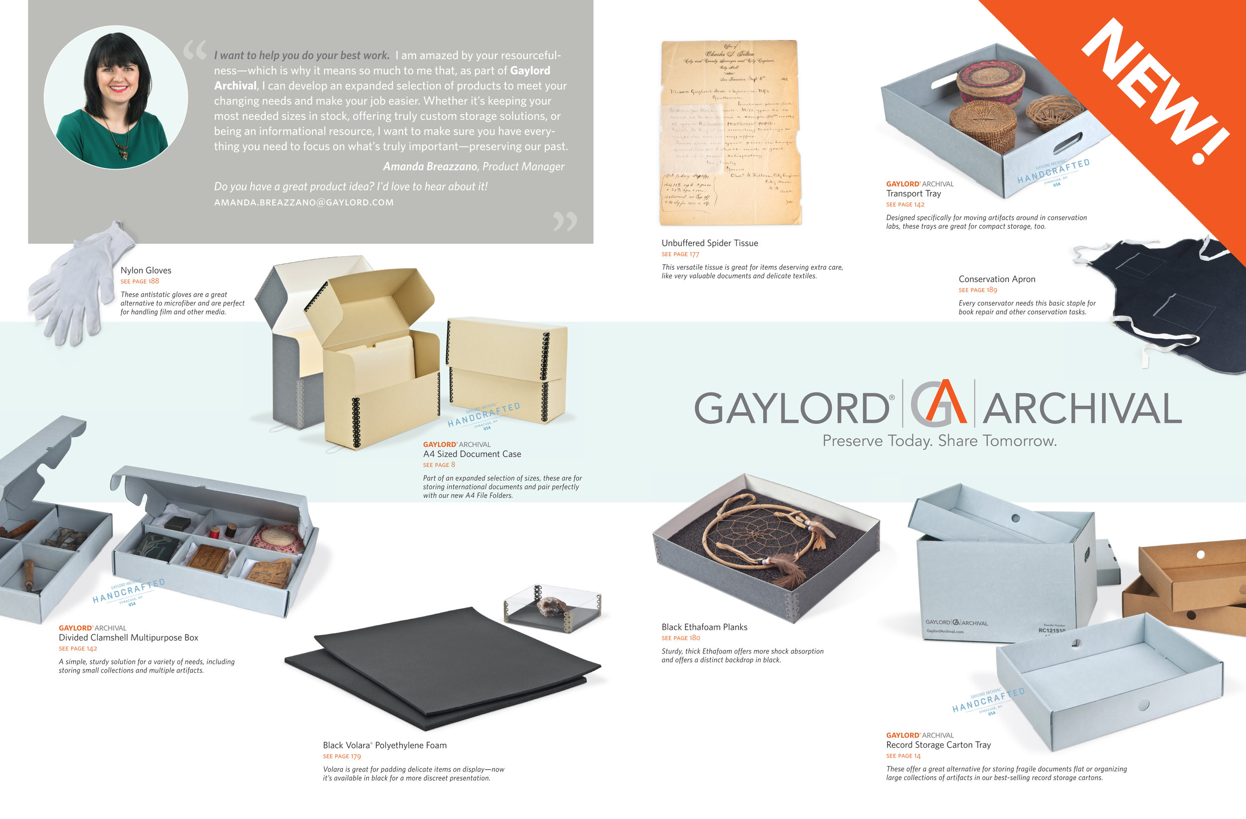 Document Storage & Preservation, new product spread