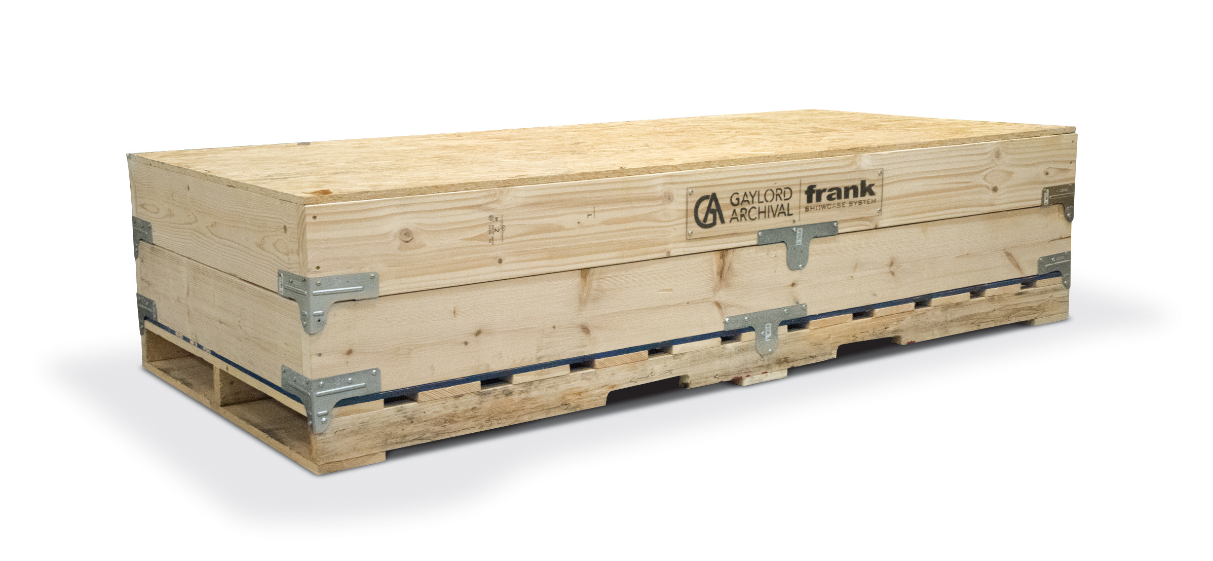 Ship flat crate integrated with pallet