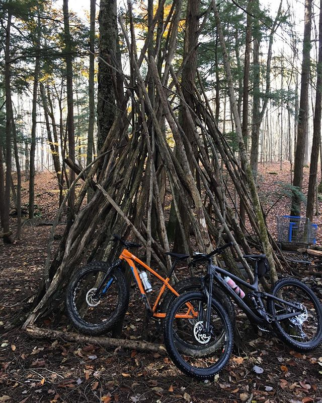 A muddy, leafy ride at the NH Town Park. On the fatty, it's a whole different ballgame!