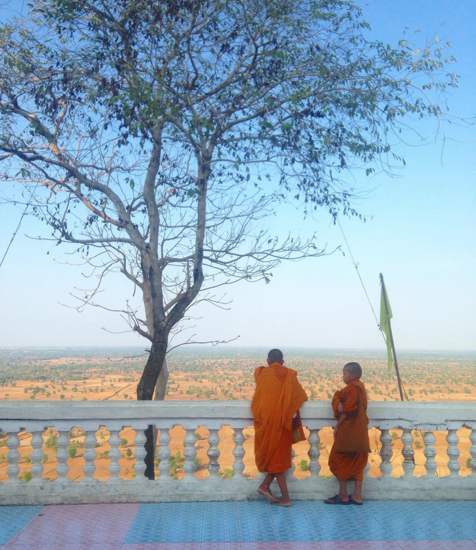 Exploring Battambang on the Sangkae river in Cambodia.