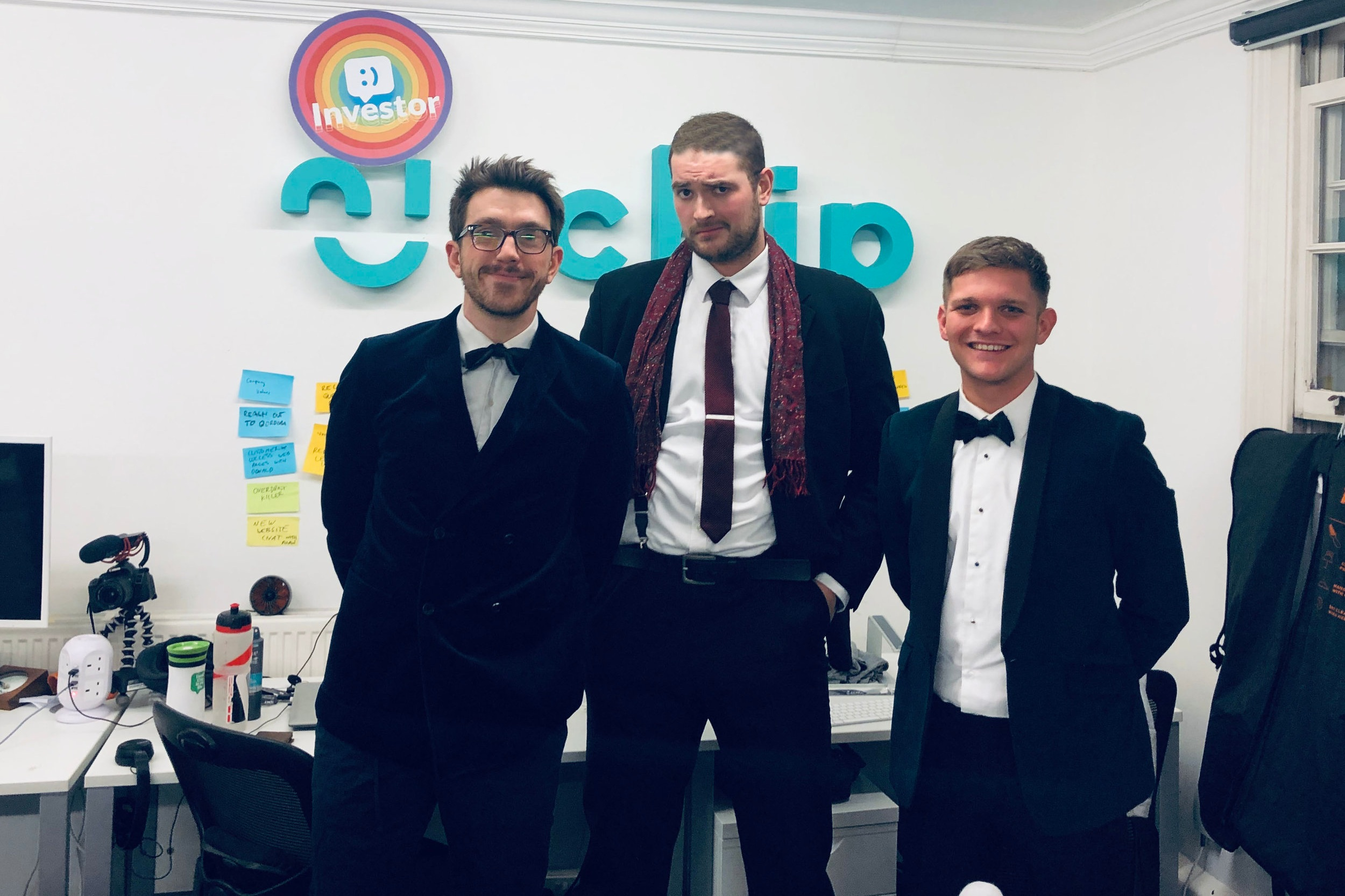 The boys from marketing looking #superfly before heading off. Tom is channelling his inner Don Draper.