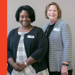 United Way's Lauralen Avery, First Steps Coordinator and Tammie Collins, EVP of Community Impact -