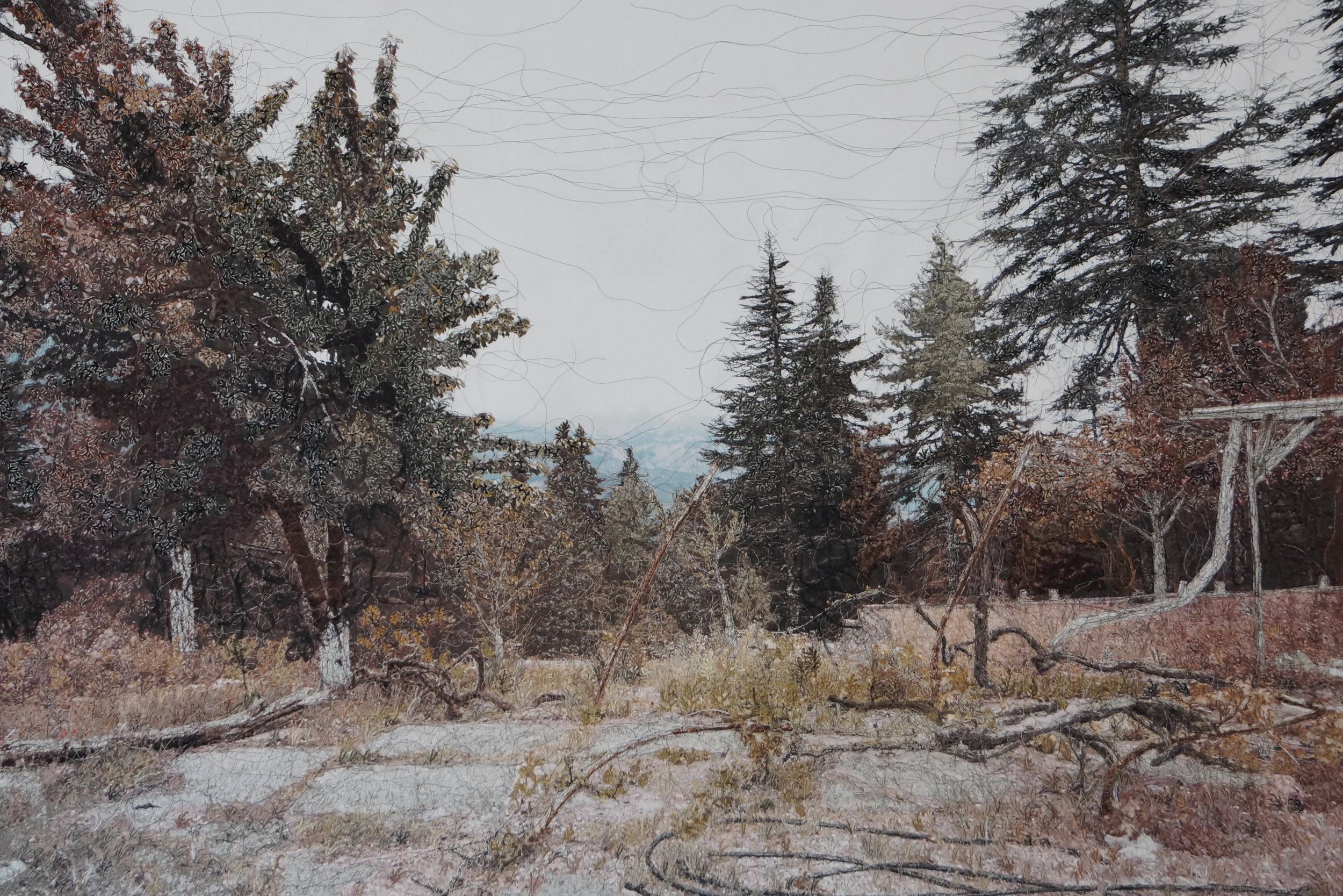 Silence, mixed media on canvas, 157 x 105 cm, 2017, Courtesy of artist and C.A.M. Gallery /sanatçı ve C.A.M. Galeri izniyle. Private collection / özel koleksiyon.