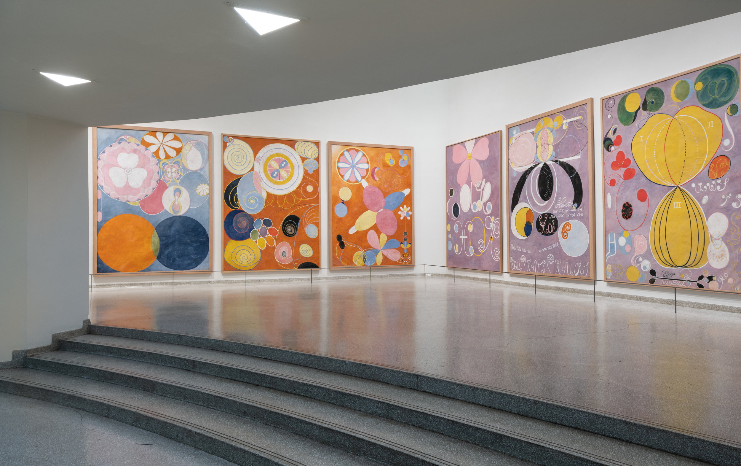 Installation view:  Hilma  af Klint: Paintings for the Future , Solomon R. Guggenheim Museum, New York, October 12, 2018–April 23, 2019 Photo: David Heald.