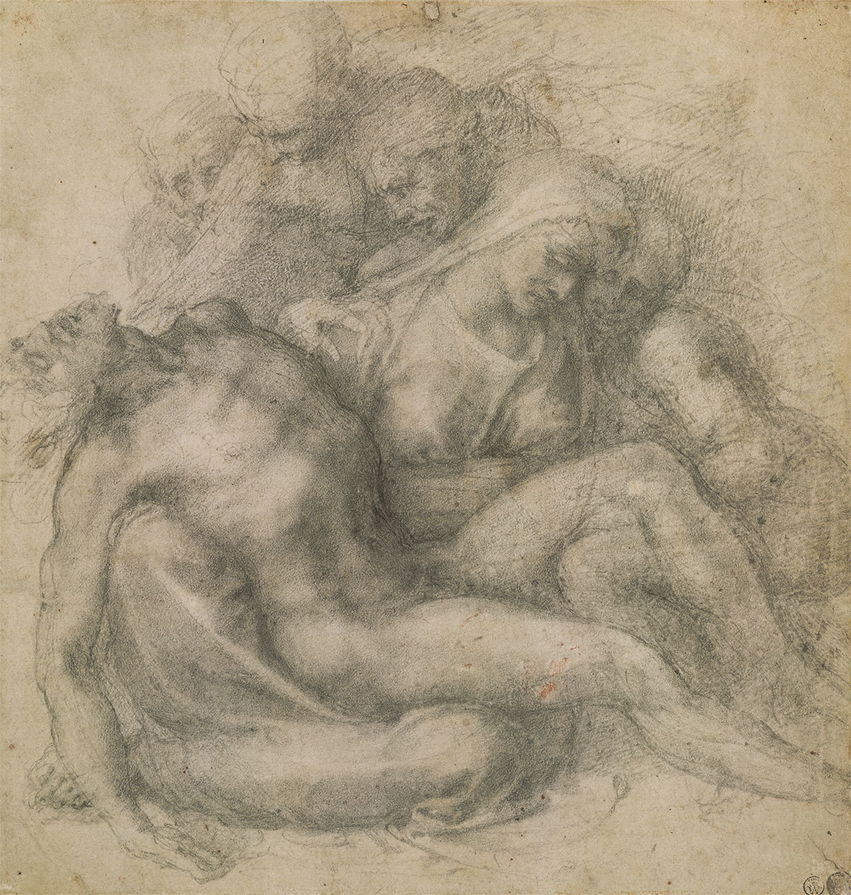 Michelangelo Buonarroti, The Lamentation over the Dead Christ,  c. 1540.