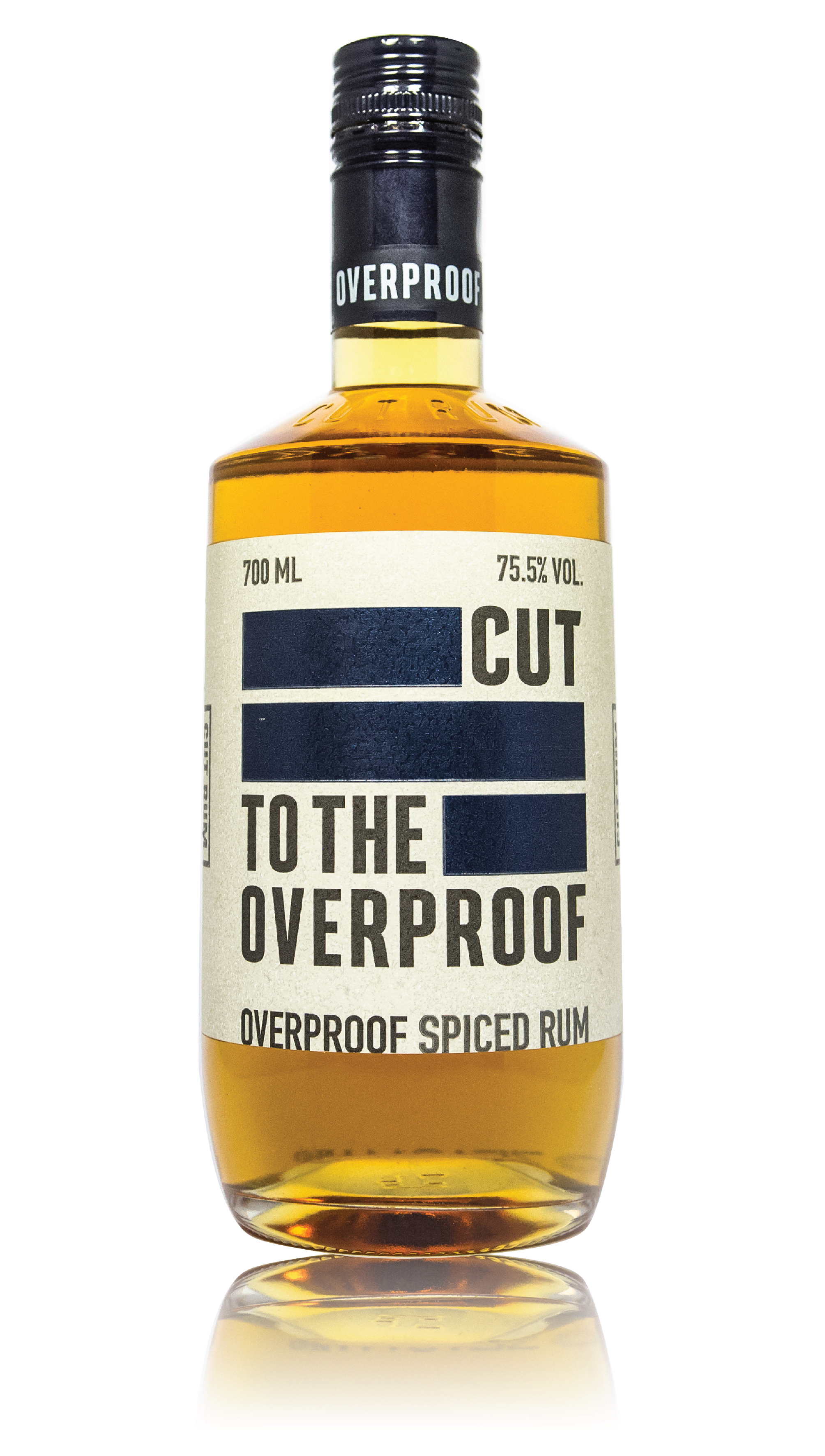 CUT OVERPROOF RUM - 151 PROOF 75.5% ABVOUR AMAZINGLY SMOOTH OVERPROOF SPICED RUM. INFUSED WITH ALL THE SAME GREAT SPICES BUT AT OVER 70% IT TAKES ON SO MANY NEW CHARACTERISTICS AND HAS A DEPTH OF FLAVOUR THAT WILL STAND UP TO ANY INGREDIENTON THE NOSE████WAFFLES ██████████ PANCAKES ██████████MOTOR OILON THE TASTEVANILLA ██████ ██████BUTTERSCOTCH ███████COCONUT OIL ███████ CINNAMON
