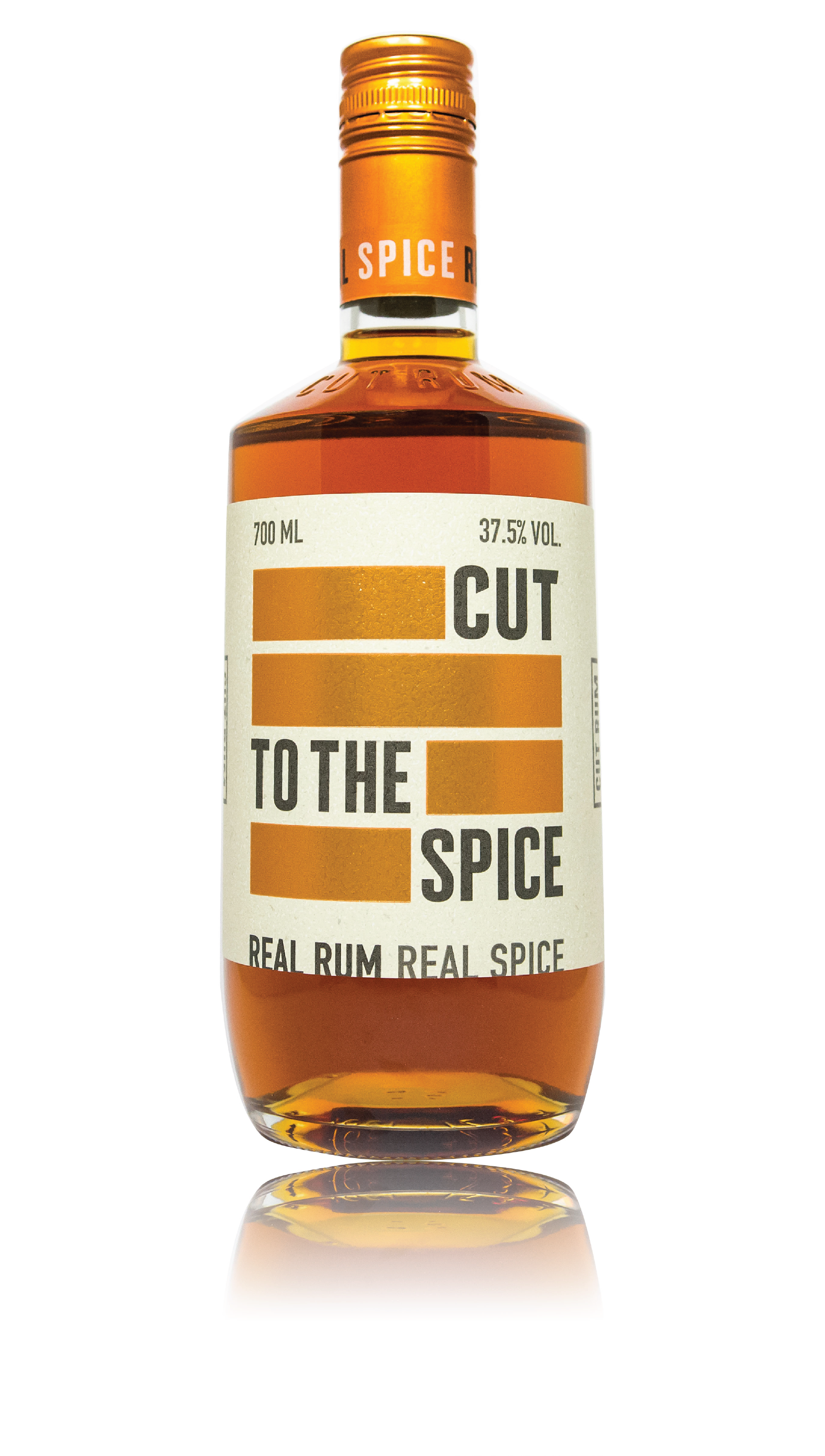 CUT SPICED RUM - 37.5% ABVPREMIUM CARIBBEAN RUM INFUSED WITH ANISEED, NUTMEG, GINGER, BLACK PEPPERCORN, CINNAMON, CORIANDER SEED LEMON PEEL AND SWEET VANILLA PODSON THE NOSETOASTED ███ ORANGE █████  PANCAKE BATTER █████ VANILLA  ON THE TASTE BOLD ████ CREAMY ██████    ███ PEPPER ████  VANILLA ███  SEA SALT ████████ CARAMEL