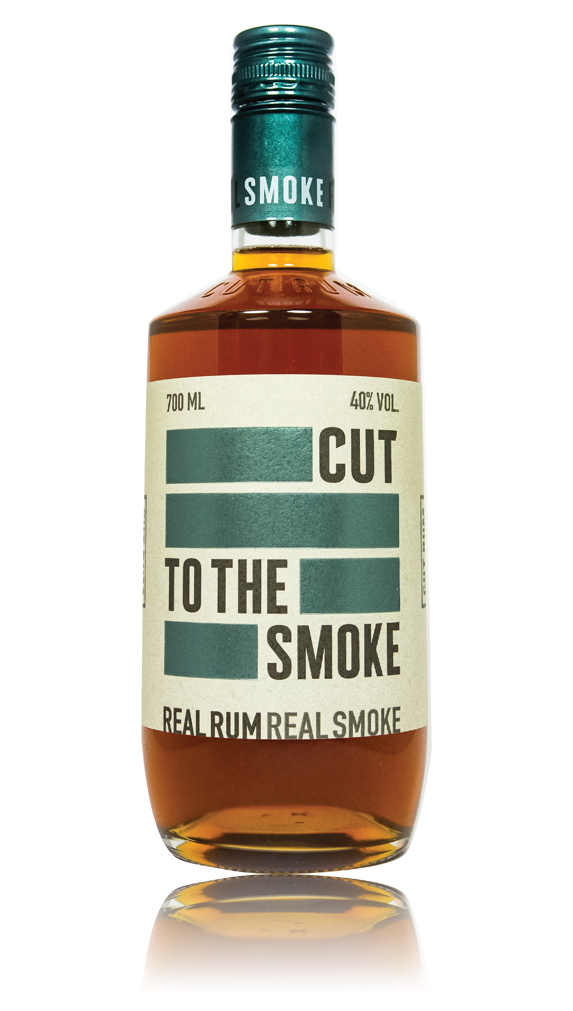 CUT SMOKED RUM - 40% ABVTHE FIRST SMOKED RUM IN THE UK. INFUSED WITH ARABICA COFFEE BEANS, SMOKED WITH  BURNT WOOD CHIPS AND LEFT TO REST IN  OAK BARRELS. THIS RUM IS ONE OF A KINDON THE NOSECOFFEE █████ COCOA NIB ████  █████ OAKED VANILLA ███ PIPE TOBACCO ████████  ON THE TASTE █████ BROWN SUGAR ██████ LEATHER ██████ CHARRED WOOD ███████ MATCHSTICK SMOKE