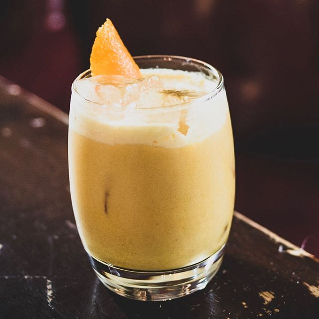 CUT SPICED RUM shaken up with some #honey #lemonjuice #doublecream #turmericpowder and topped up with a touch of #gingerbeer - slides down a #treat  #cocktails #spicedrum #cuttotherum #bartenderlife #drink #tasty #rum #morerum #simple