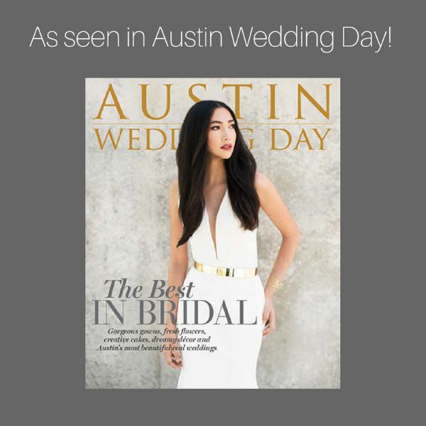 Courtney and Brian's wedding was featured in Austin Wedding Day Magazine.