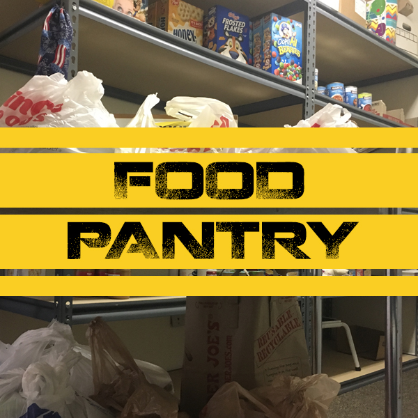 FOOD PANTRY   Open Mondays and Wednesdays from 10am-4pm, our food pantry is available by coming to the main office entrance. Every week, families and individuals come and receive groceries and toiletries that they need. We treat everyone with honor and share the love of Jesus with them.  Anyone wishing to donate items can bring them to our church office, or drop them off in our lobby on Sundays. Financial gifts are also welcome and will be used to purchase needed items.