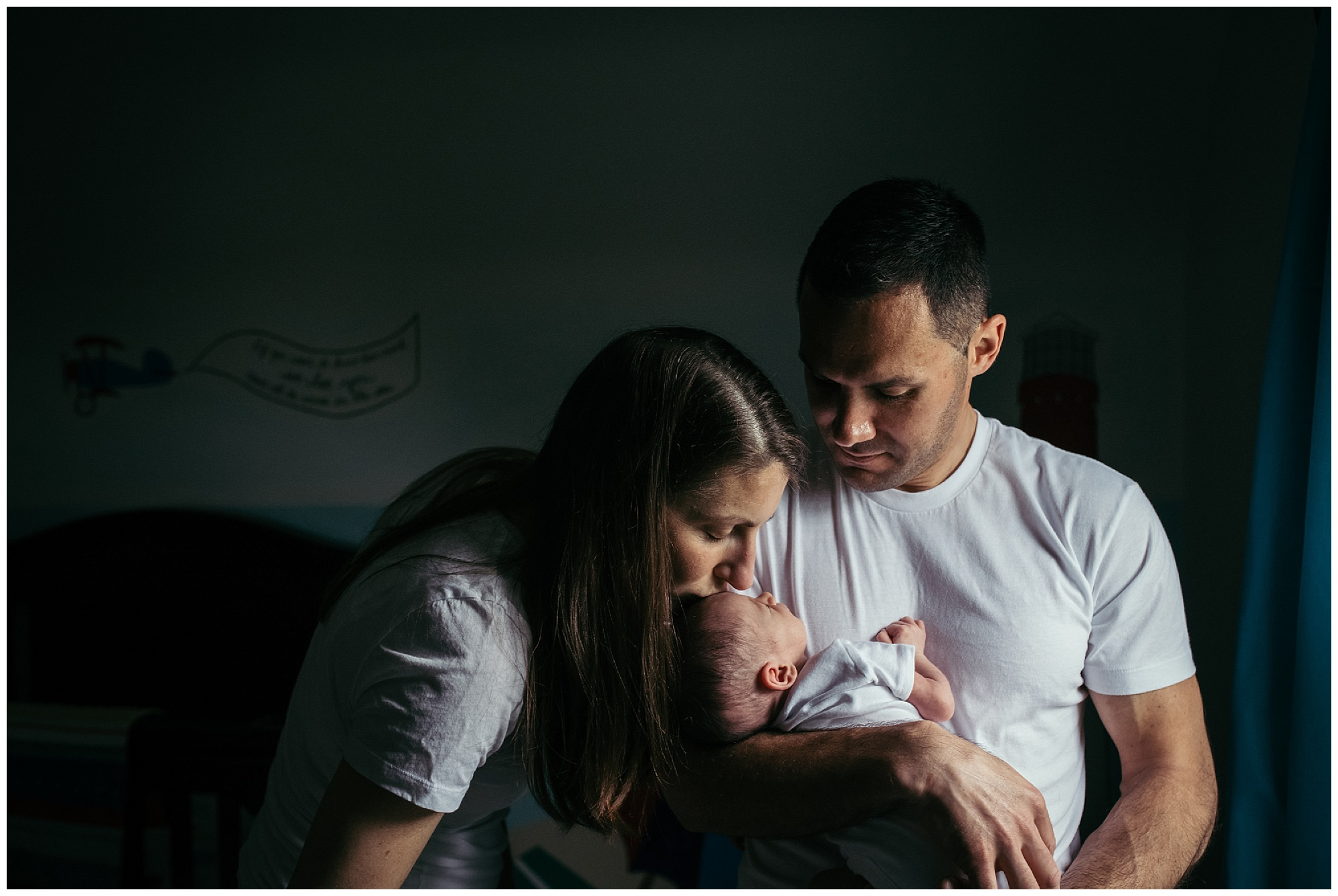 Newborn portrait session with 2 week old Baby Maggie