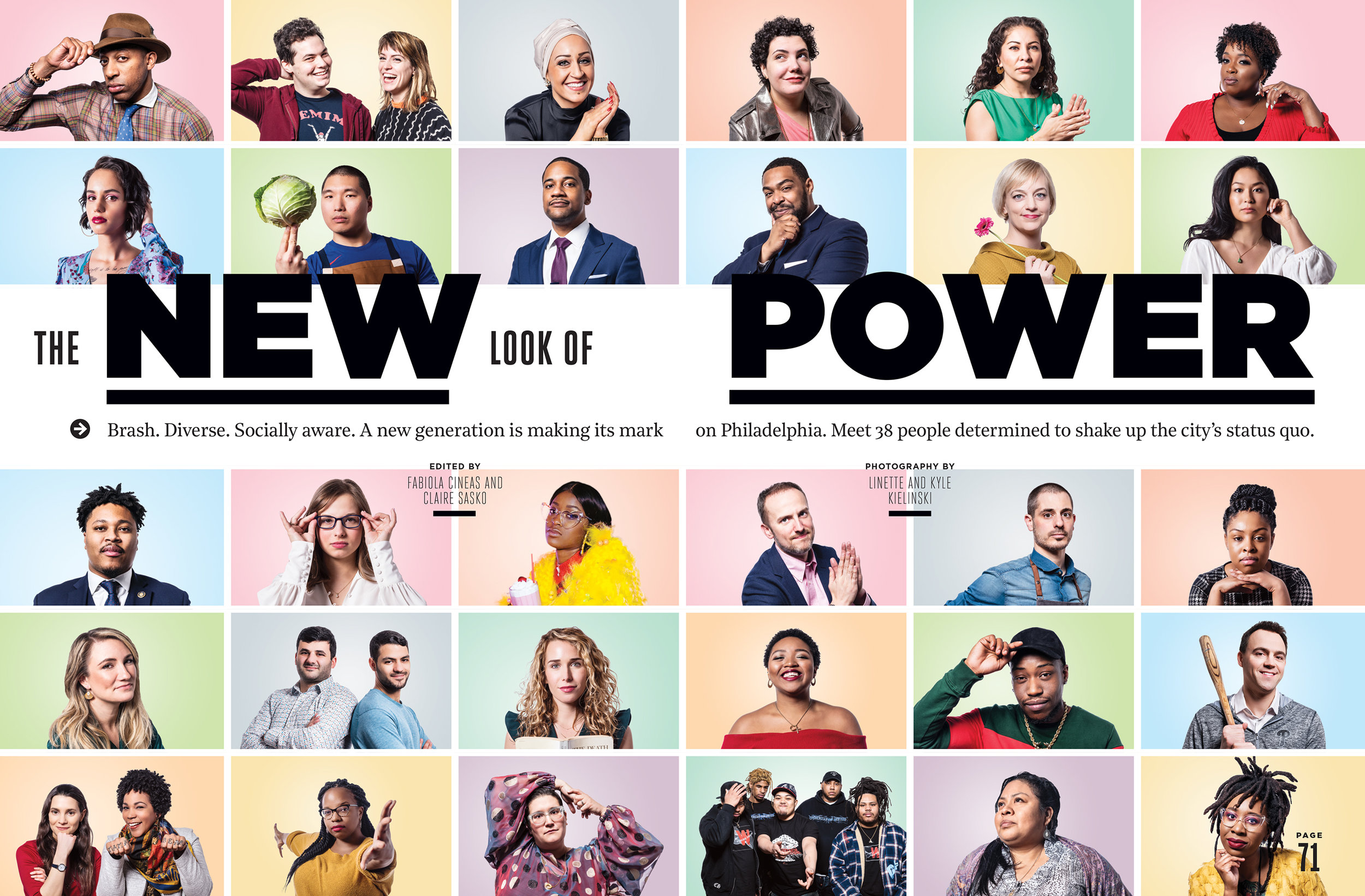 "We're excited to finally share some of our work that's featured in the April issue of  Philadelphia Magazine ! "" The New Look of Power  - Brash. Diverse. Socially aware. A new generation is making its mark on Philadelphia. Meet 38 people determined to shake up the city's status quo."""