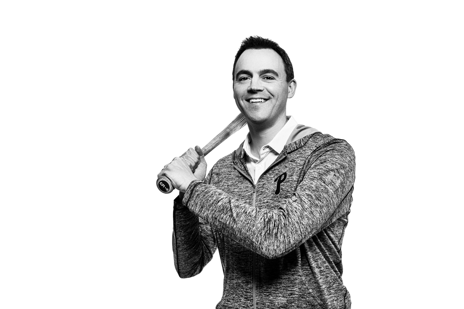Portrait of Matt Klentak, General Manager of the Philadelphia Phillies baseball team for Philadelphia Magazine April 2019