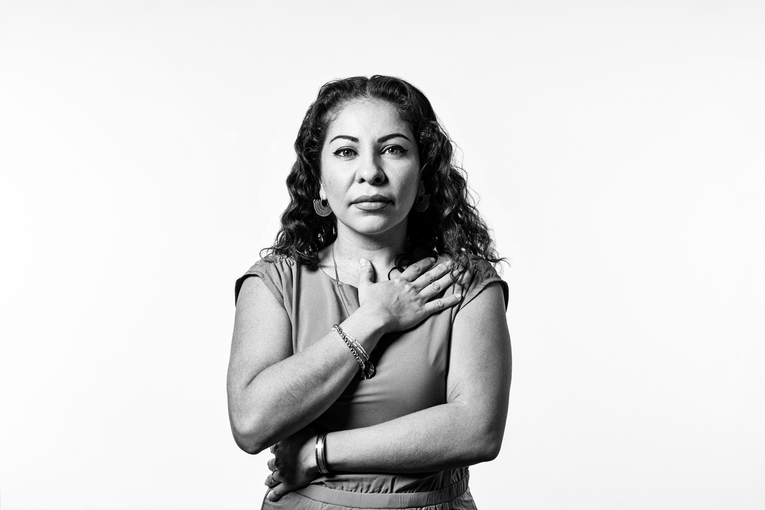 Studio portrait of Michelle Angela Ortiz, mural artist and activist. Shot for April 2019 issue of Philadelphia Magazine.