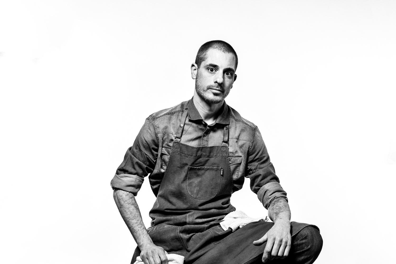 Studio portrait shoot with Anthony Andiario, chef and restaruant owner. Shot for the April 2019 issue of Philadelphia Magazine. Photo by Kyle Kielinski