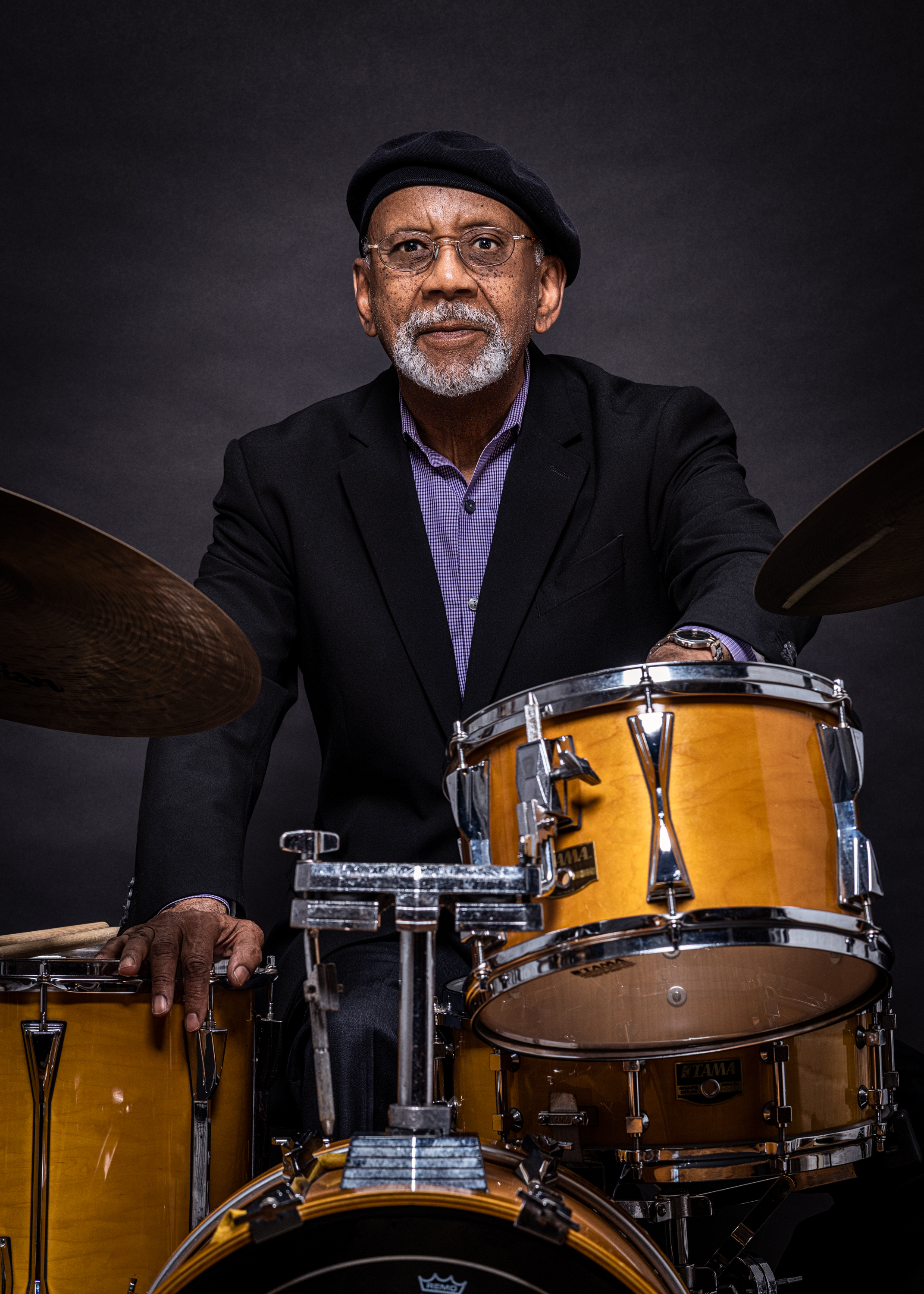 Portrait of drummer Alan Nelson for Philadelphia Jazz Project