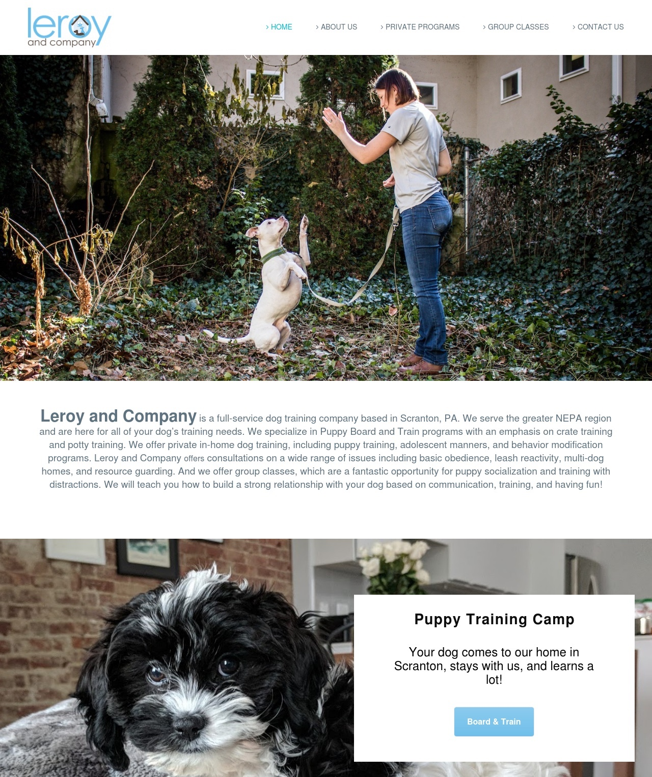 Leroy and Company - Built on Wordpress.