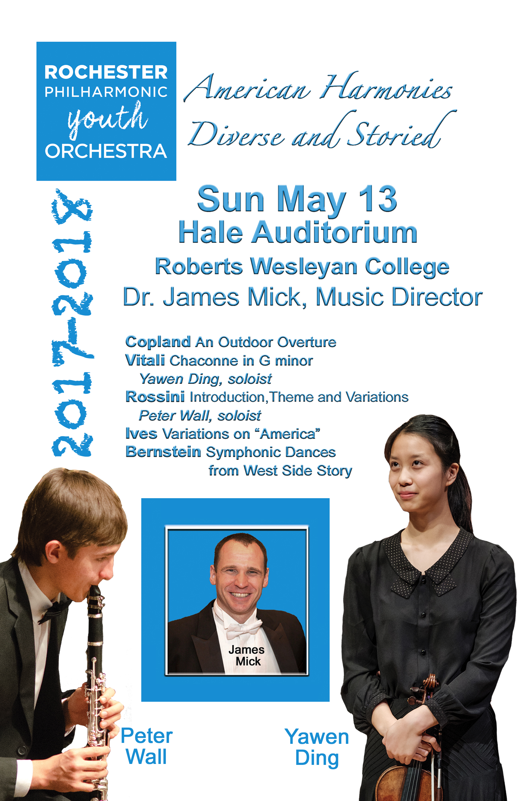 Cover of our May 2018 Concert Program Book