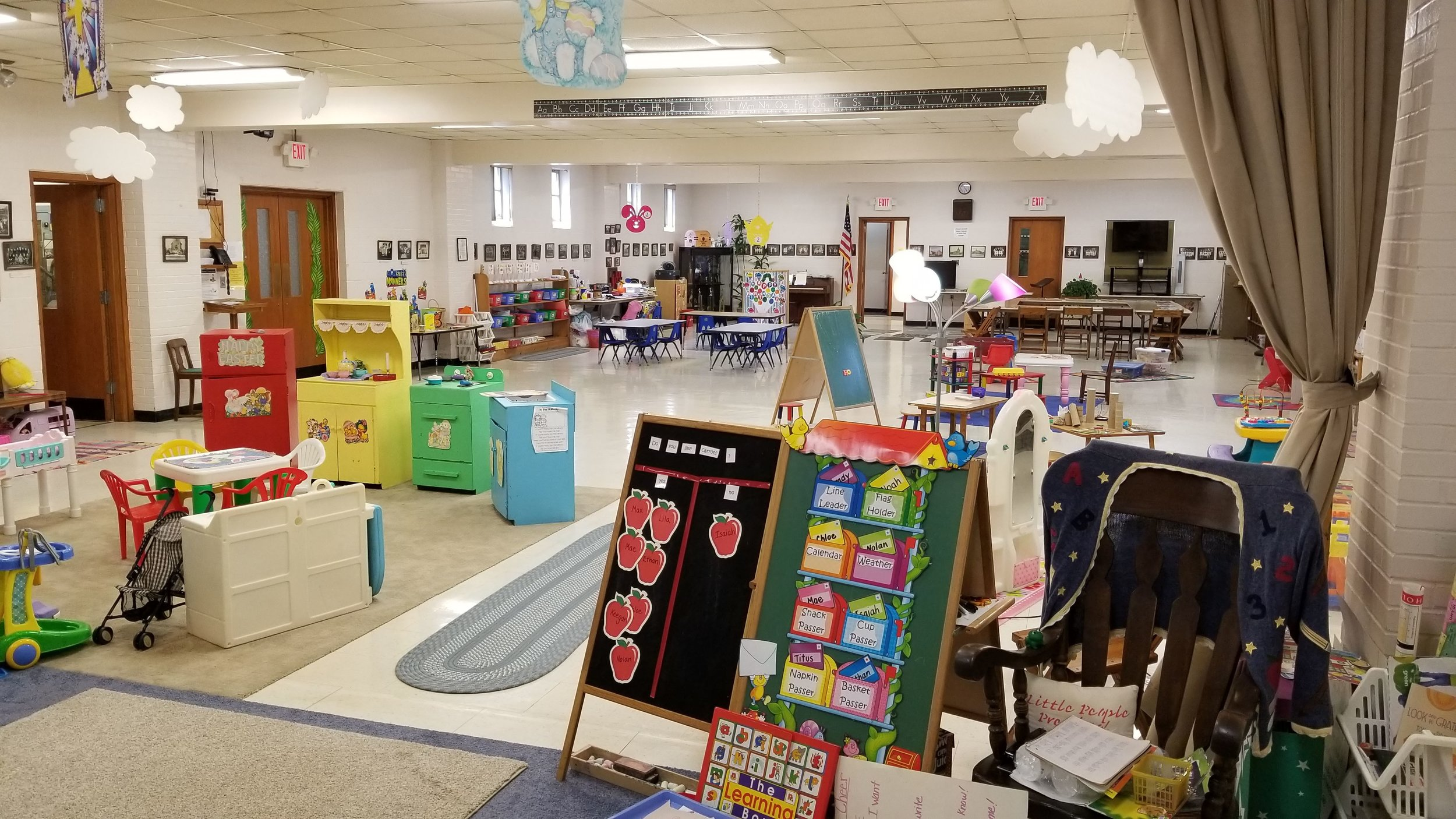 There are tons of activities here to keep the children learning and growing while still having fun. -